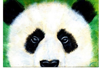 Acrylic Painting: Peeking Panda (Ages 8+)