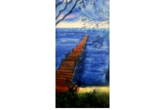 Acrylic Painting: Pier at Green Cove