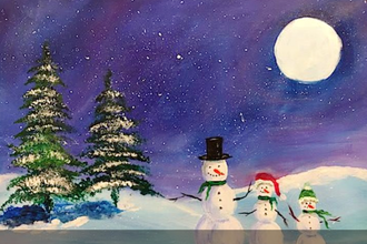 Acrylic Painting: Snow Friends