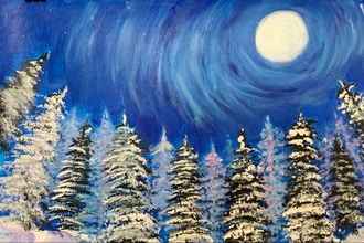 Acrylic Painting: Snowy Forest