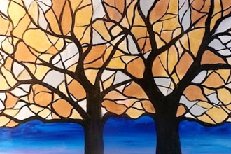 Acrylic Painting: Stained Glass Trees