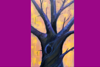 Acrylic Painting: Twisted Tree