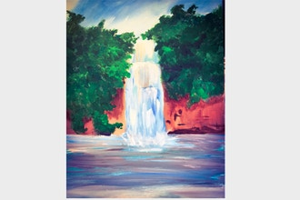 Online Acrylic Painting: Waterfall