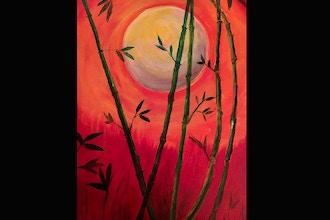 Virtual Acrylic Painting: Bamboo Moon