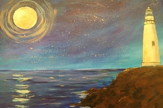 Acrylic Painting: Lighthouse at Night - Acrylic Painting Classes
