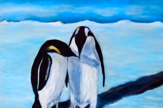 Acrylic Painting: Penguins