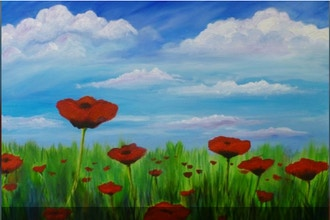Acrylic Painting: Poppies