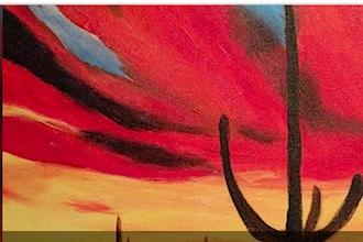 Acrylic Painting: Southwestern Sunset