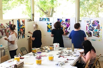 Art/Mixed Media/All-Day Workshop: Fearless Creating